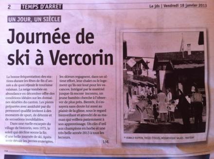 Journée de ski à Vercorin